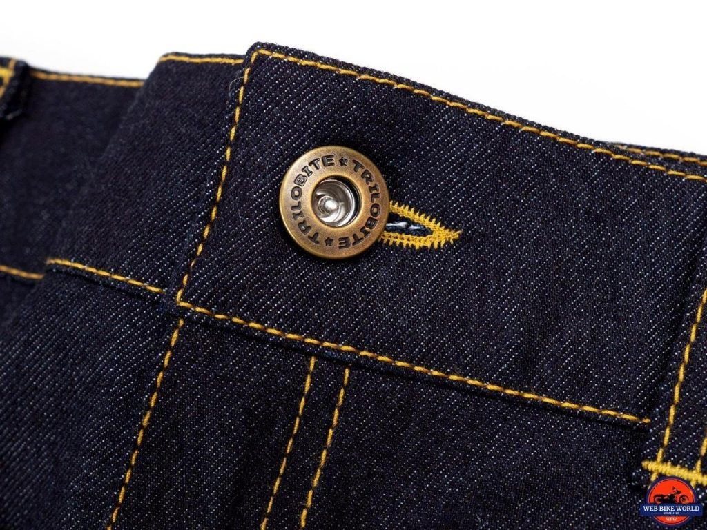 Trilobite Go-Up Jeans button closure