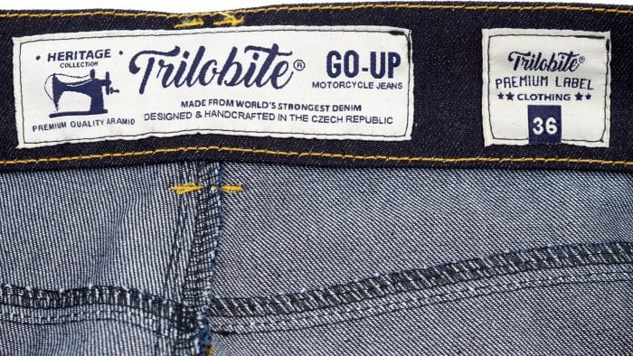 Trilobite Go-Up Jeans inner waist labels
