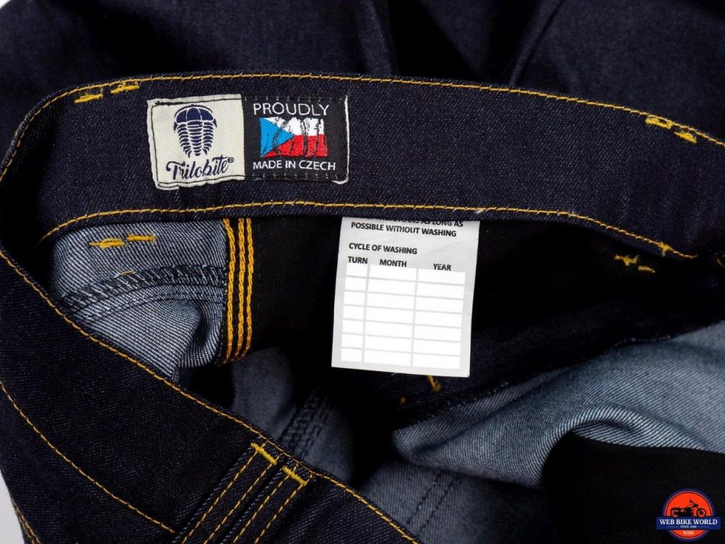 Trilobite Go-Up Jeans wash cycle calendar