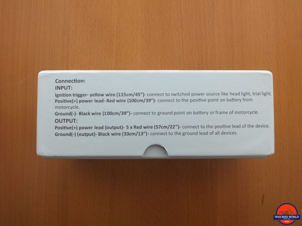 INNOVV Power Hub 2 installation instructions on box