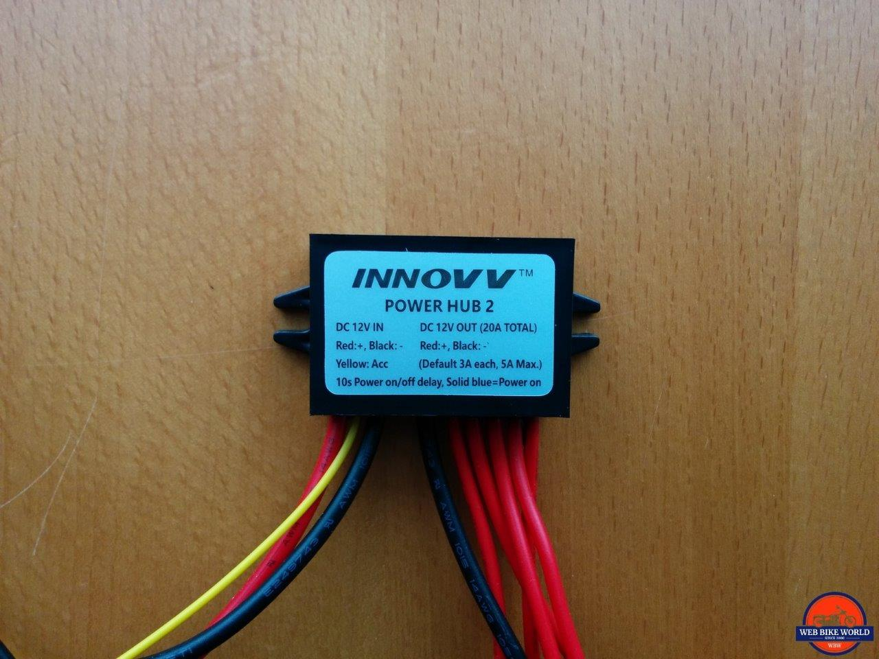 INNOVV Power Hub 2 Full View with Label