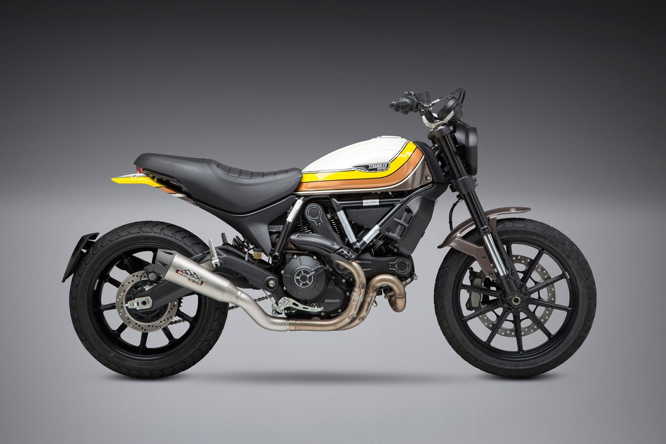 Upgrades Your Ducati Scrambler With This Sick Yoshimura Slip On