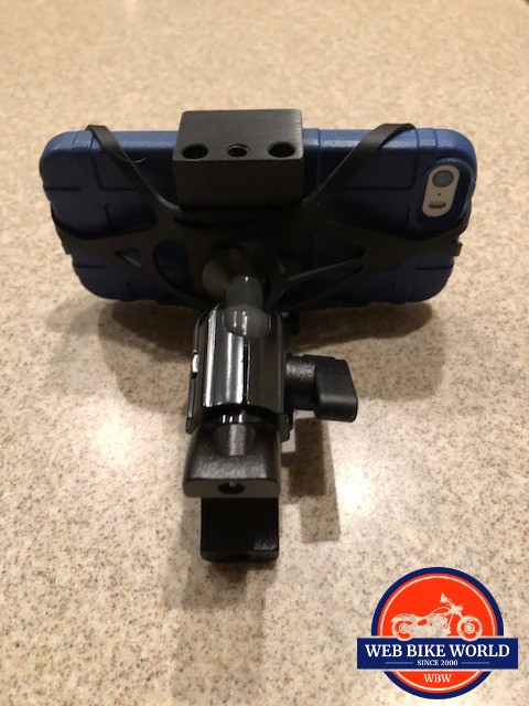 Tackform Enduro mount holding I-Phone