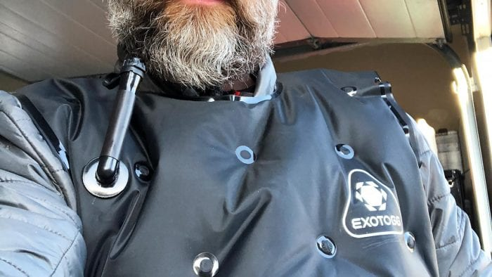 Me wearing the Exotogg Thermal Vest.