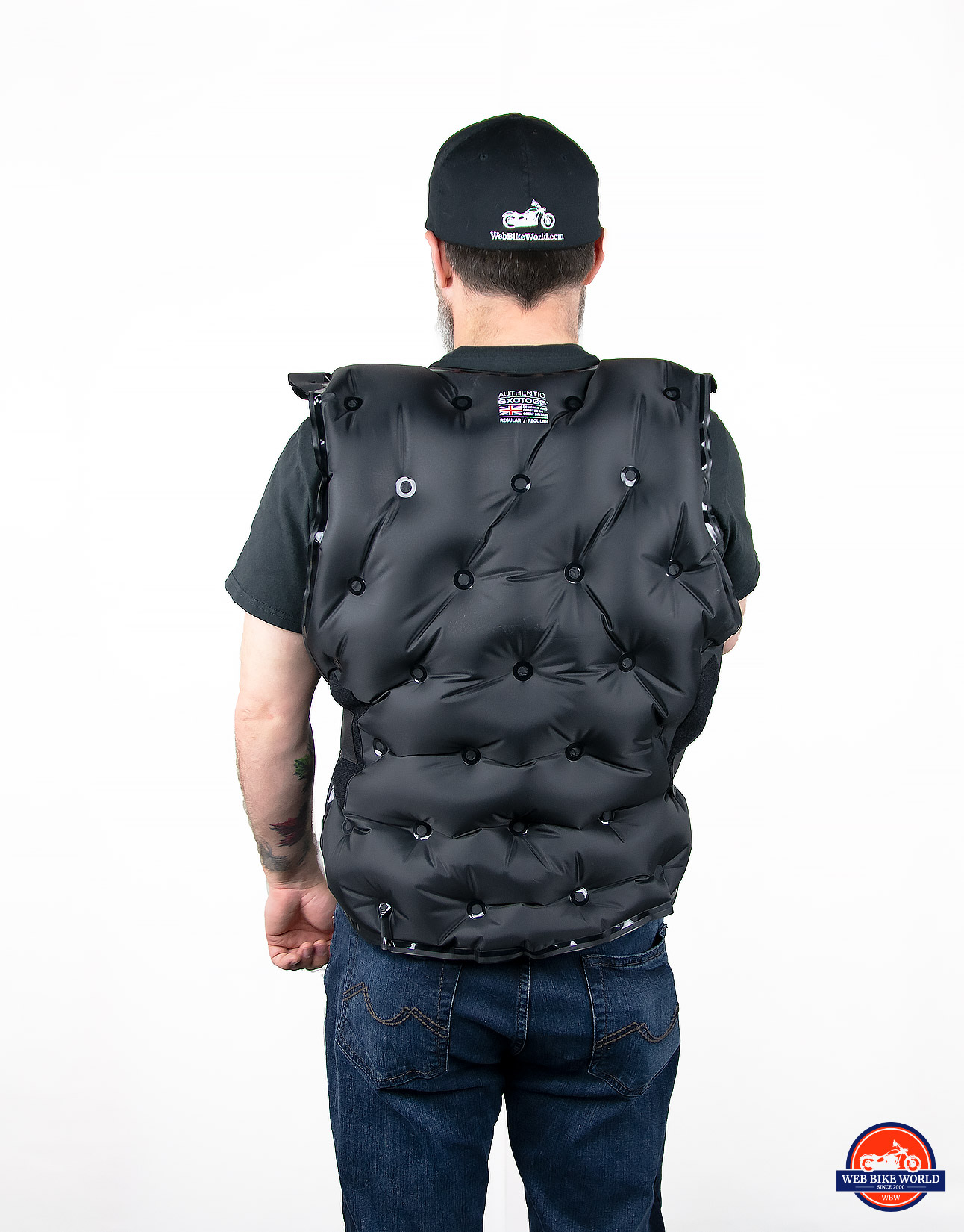 Exotogg Thermal Vest fully inflated.
