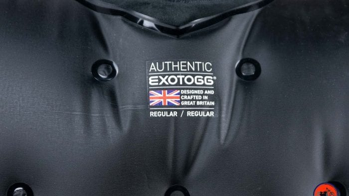 The Exotogg label saying Made in Great Britain.