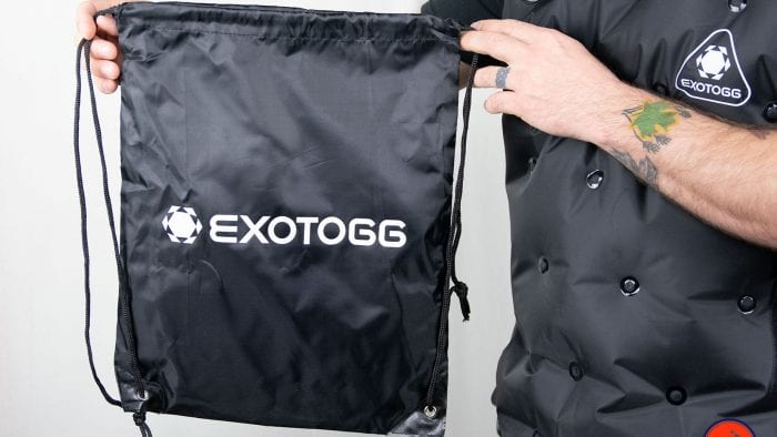 Storage bag for the Exotogg Thermal Vest.