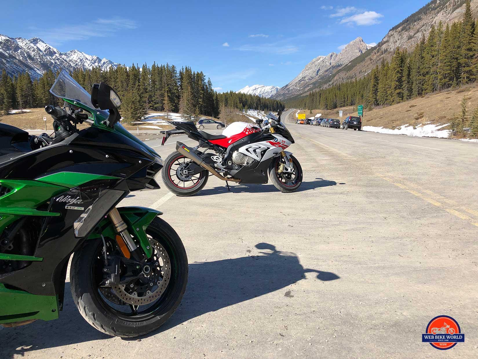 2018 Kawasaki H2SX SE and 2018 BMW S1000RR.