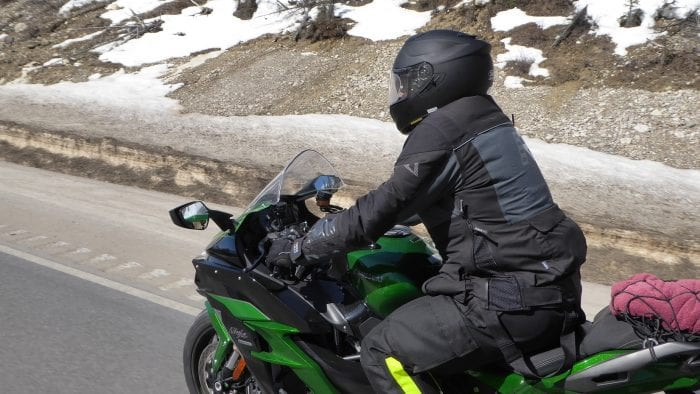 Me riding while wearing the Exotogg Thermal Vest underneath a Rukka ROR jacket.