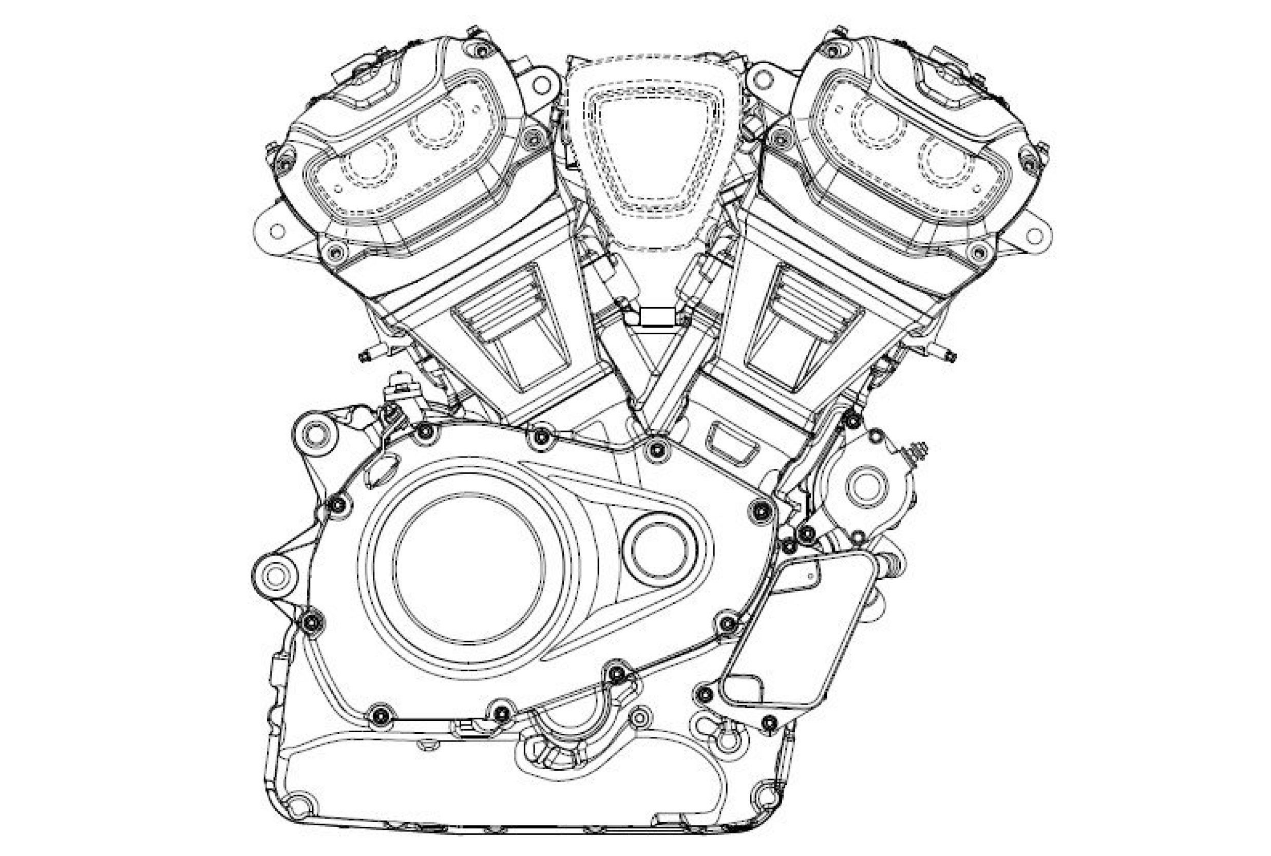 Harley engine filing