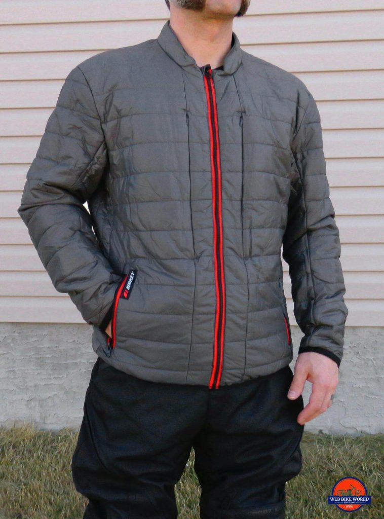 Me wearing the Joe Rocket Canada Ballistic 14 jacket thermal layer.