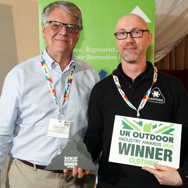 Tony Hawkins receiving award for Exotogg.
