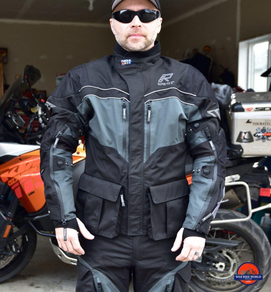 Me wearing the Rukka ROR jacket.