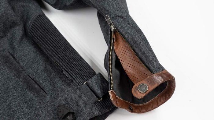 Trilobite Ace Jacket wrist cuff unzipped