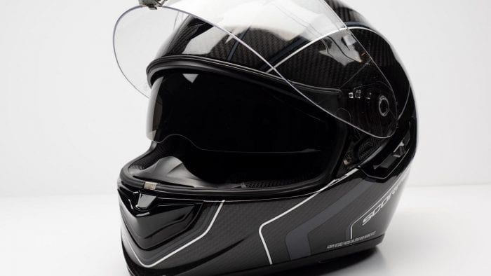 Scorpion EXO-ST1400 Carbon Helmet visor up