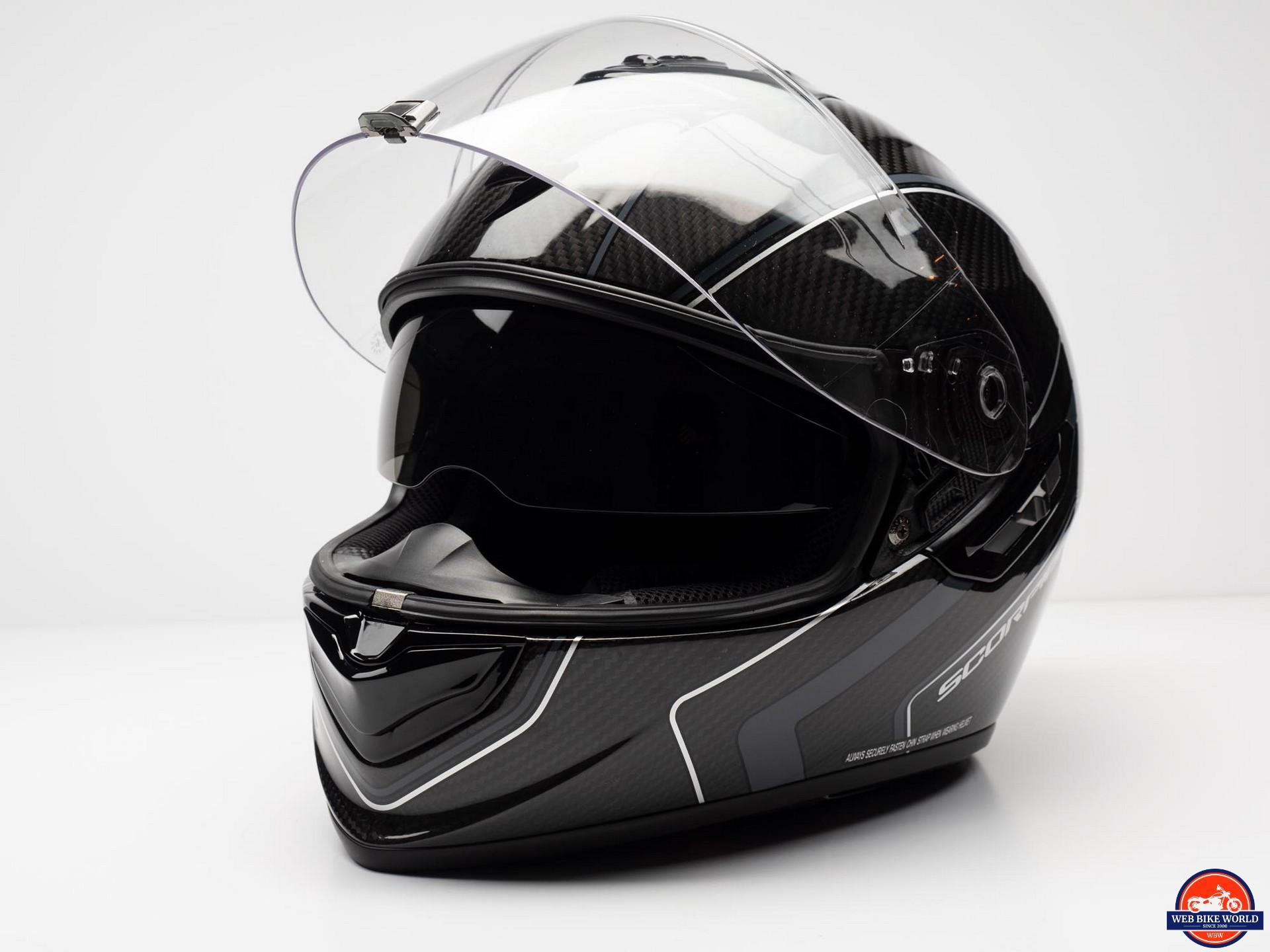 8a109654 Scorpion EXO-ST1400 Carbon Helmet visor up