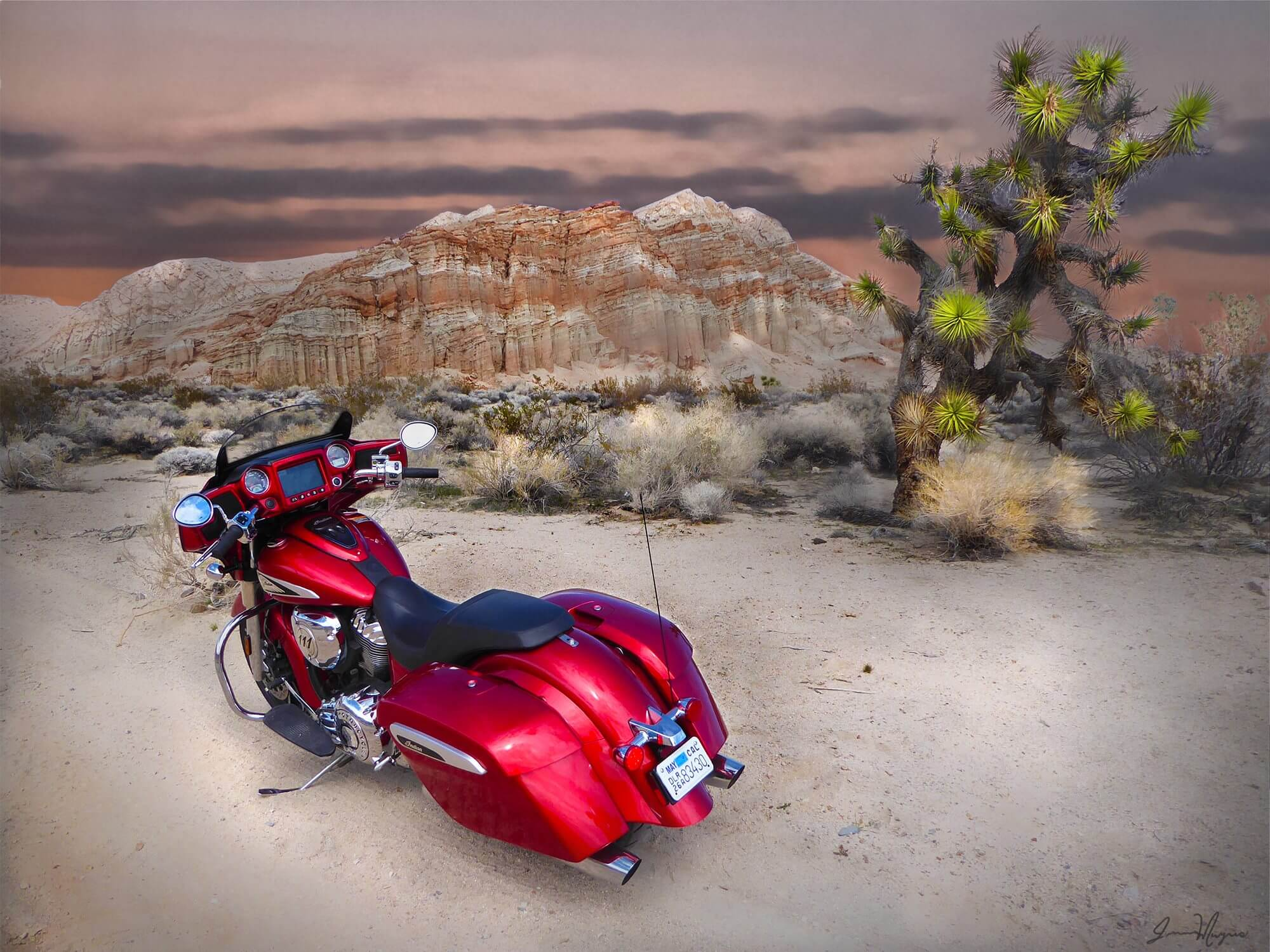 Indian Chieftain Ltd at Red Rock Canyon.
