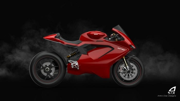 Ducati Electric Motorcycle Rendering