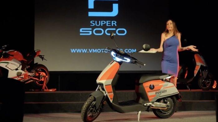 Ducati super soco CUx electric scooter