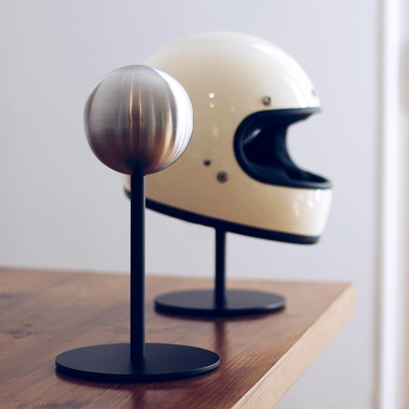Halley's Helmet Stand & Rack Help Helmets Strut Their Stuff