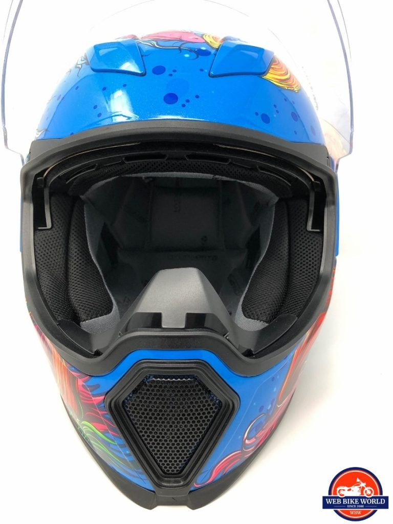 Icon Airflite Inky Helmet eyeport and mouth vent