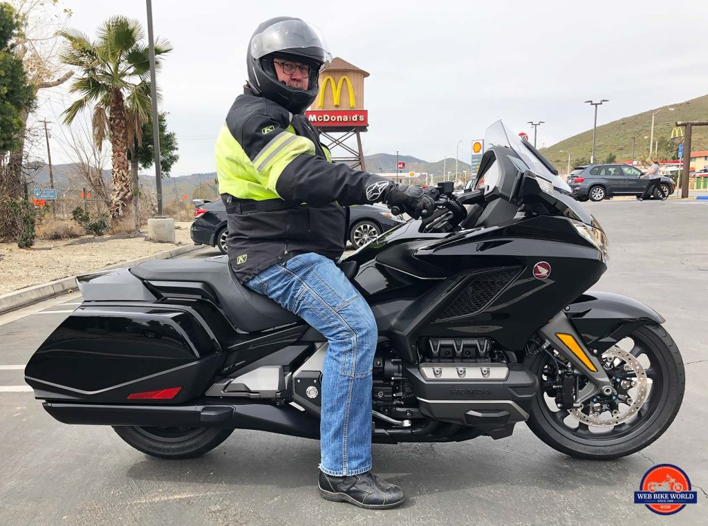 Greg on the Honda Gold Wing DCT.