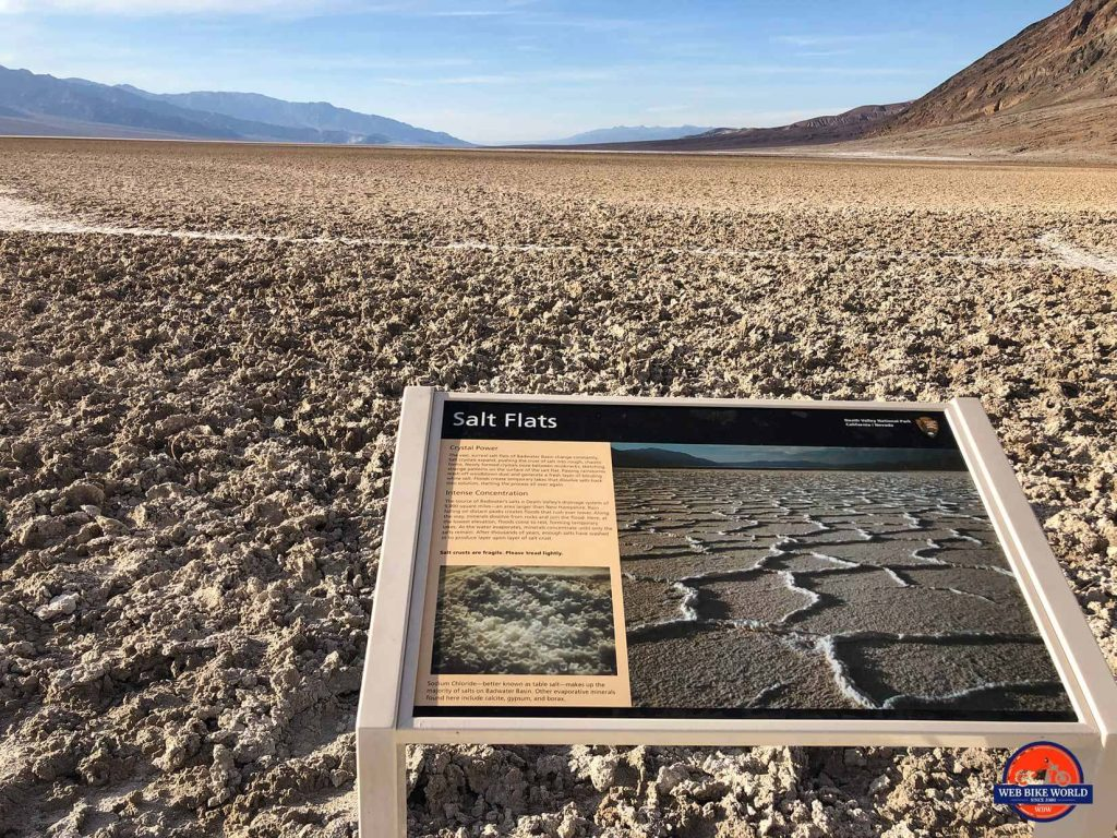 Badwater Basin salt flats.