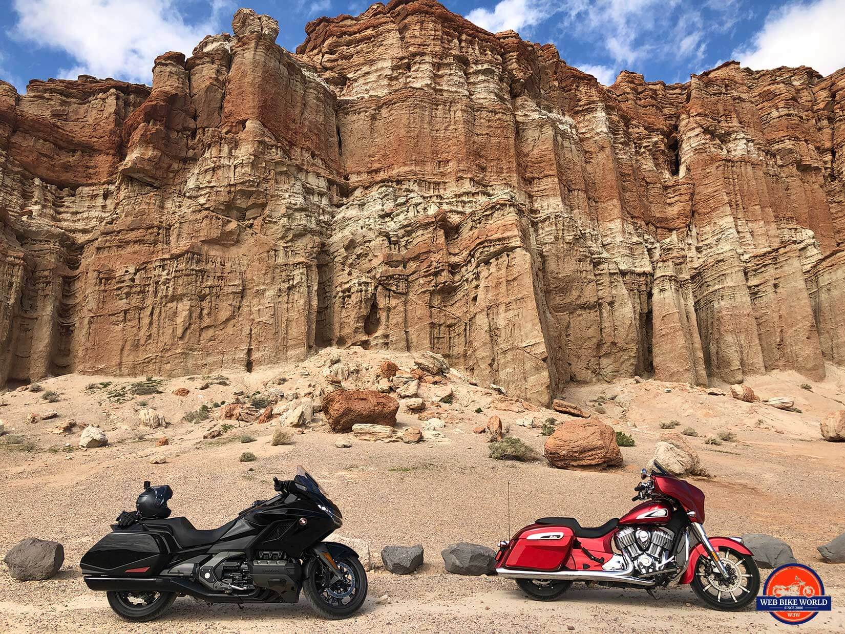 Red Rock Canyon with the Honda Gold Wing DCT and Indian Chieftain Ltd.
