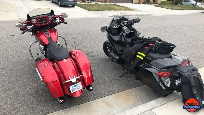 Indian Chieftain Ltd and Honda Gold Wing DCT together.