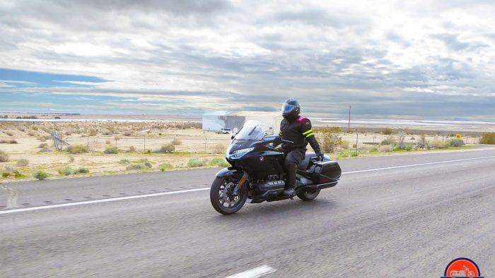 Me riding the Honda Gold Wing DCT with no hands.