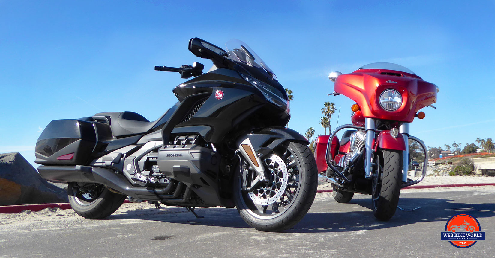 Honda Gold Wing DCT and Indian Chieftain Limited.