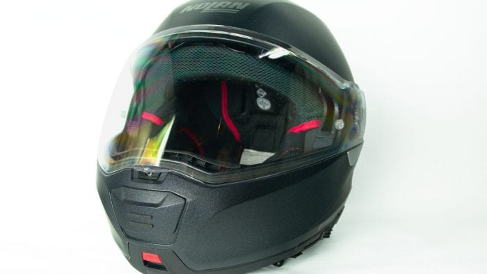 Nolan N100-5 helmet.