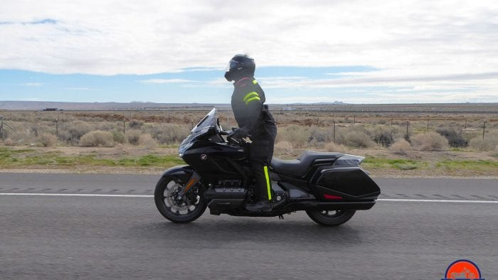 Me riding a 2019 Honda Gold Wing DCT wearing a Nolan N100-5 helmet with N-Com B901L installed.