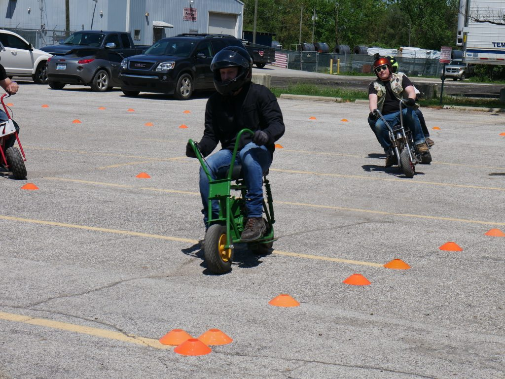 minibike racing at pull start racing event