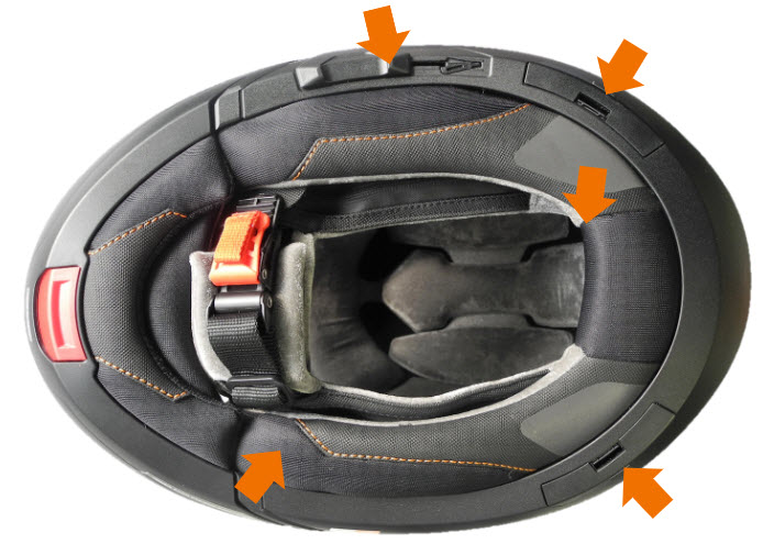 SCHUBERTH C4 Pro noise optimization areas
