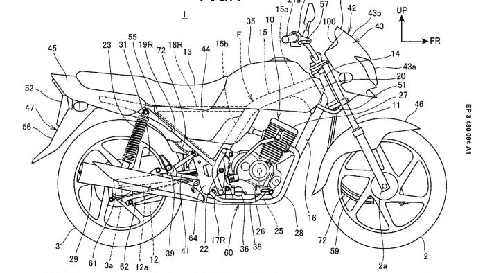 Honda patent for drum brake motorcycle