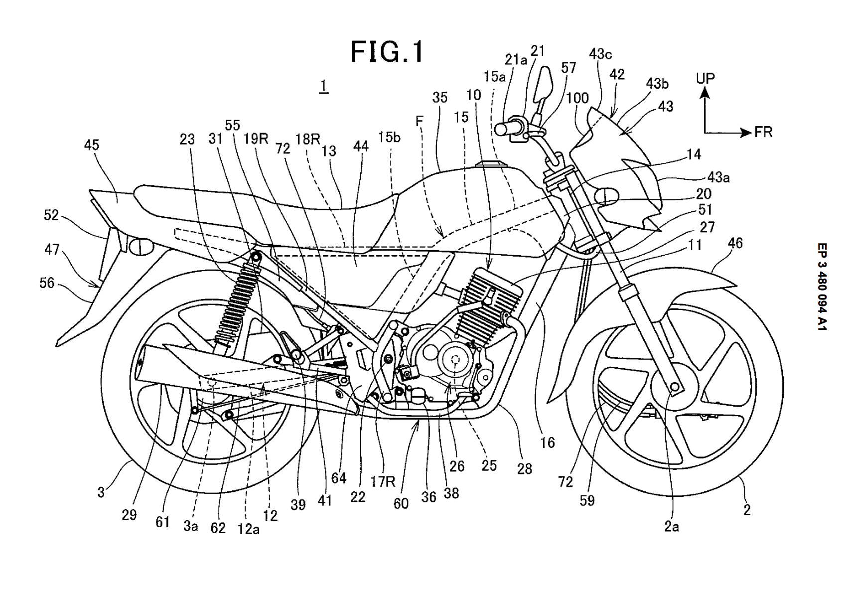 Honda patent for drum brake motorcycle