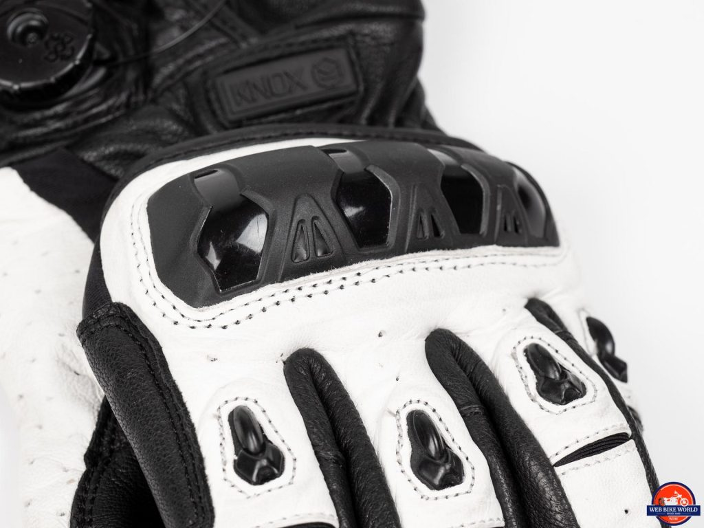 Knox Orsa Leather MKII Glove plastic hand armor