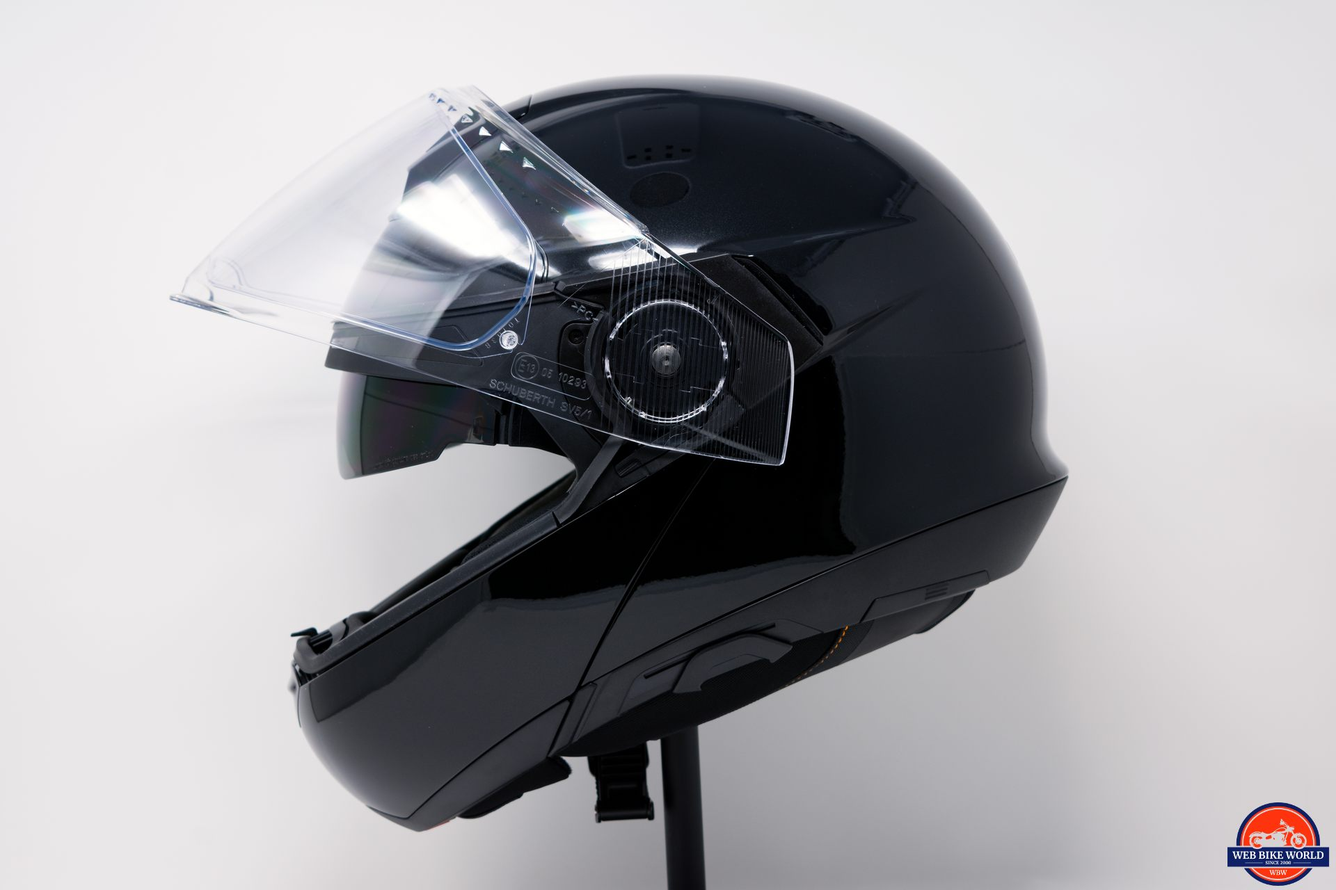 SCHUBERTH C4 with raised visor