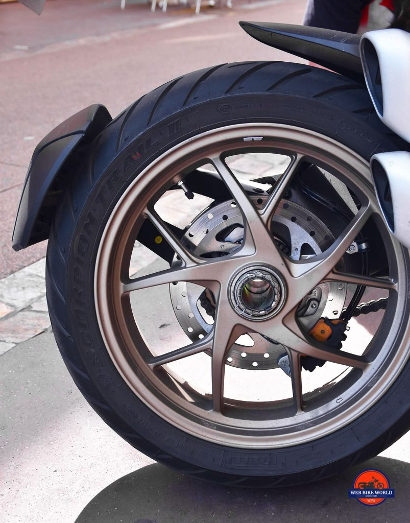 2019 Ducati Multistrada 1260S rear wheel.