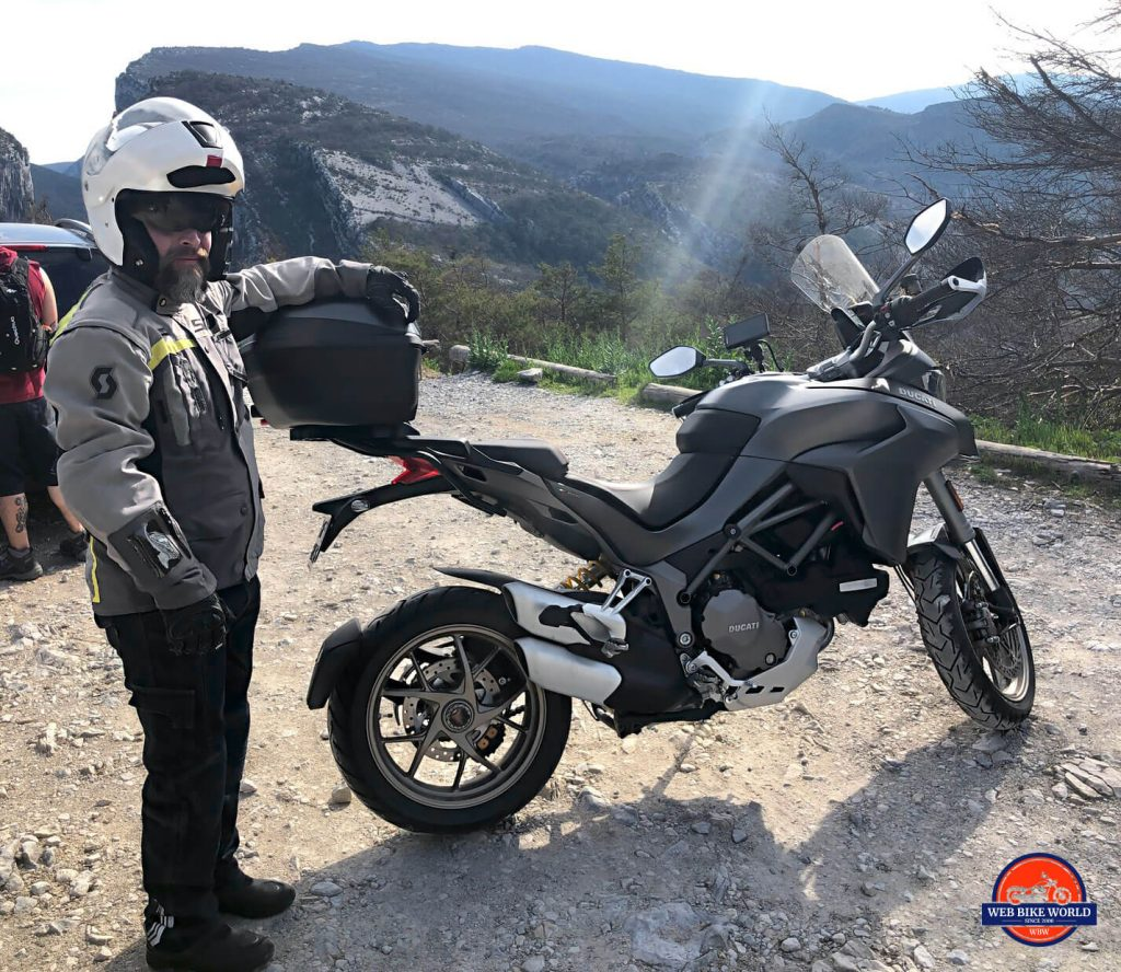 Me with a 2019 Ducati Multistrada 1260S at Gorges de Verdon.