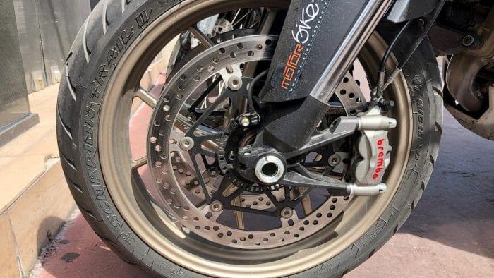 2019 Ducati Multistrada 1260S front wheel.