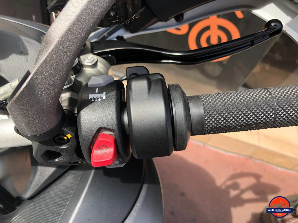 2019 Ducati Multistrada 1260S right handlebar controls.