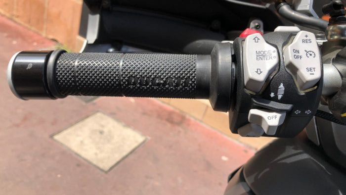 2019 Ducati Multistrada 1260S left grip.
