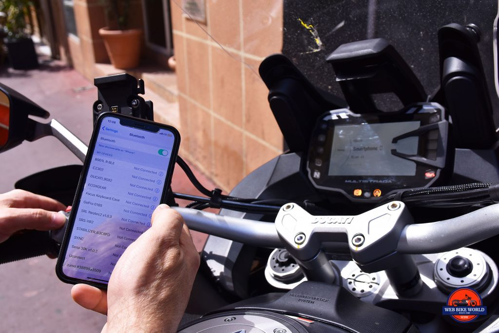 Pairing an iPhone with the 2019 Ducati Multistrada 1260S