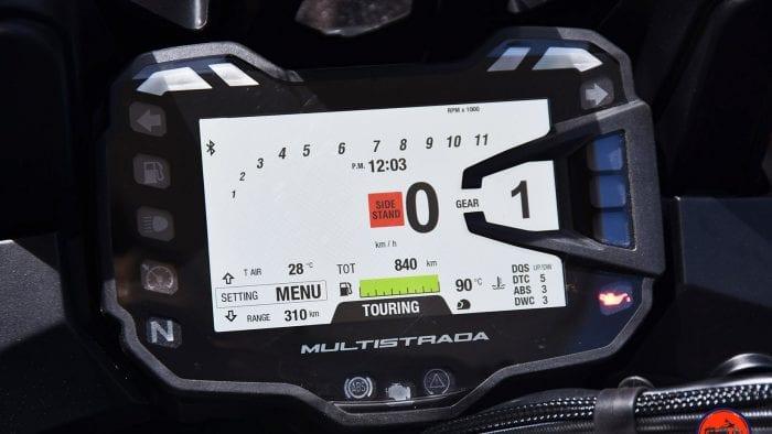 2019 Ducati Multistrada 1260S dash.