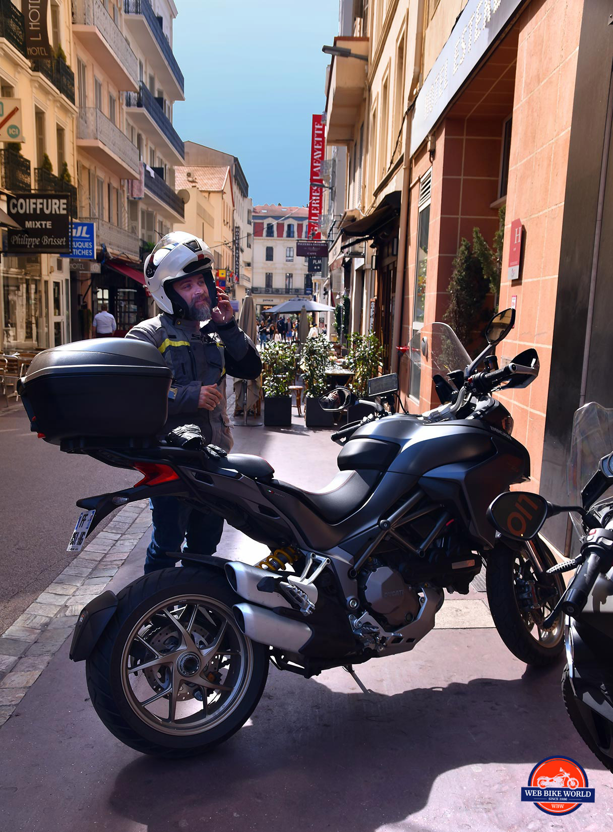 Me and a 2019 Ducati Multistrada 1260S in Cannes, France.