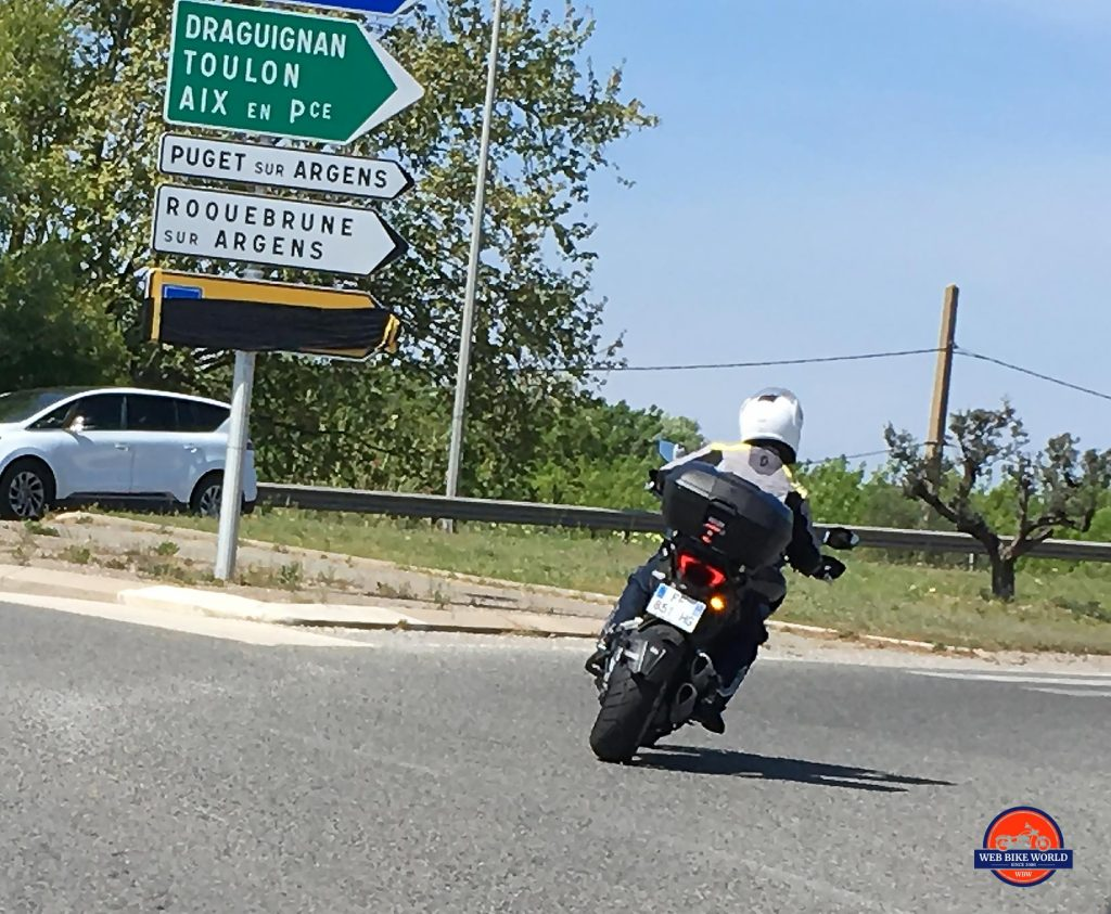 2019 Ducati Multistrada 1260S cornering.