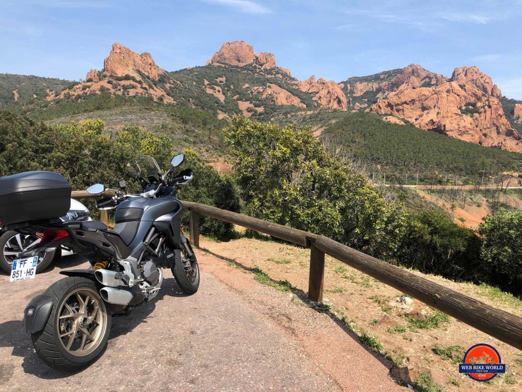 2019 Ducati Multistrada 1260S on the Cote D'Azur.