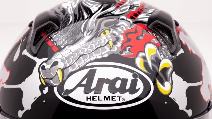 Arai Defiant-X Helmet with Dragon Graphics